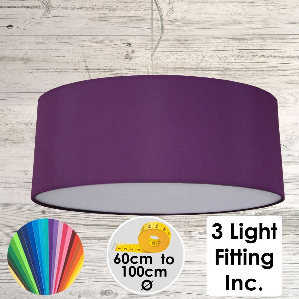 Purple Drum Ceiling Light